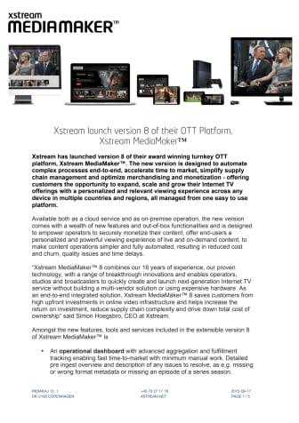 Xstream MediaMaker™ version 8
