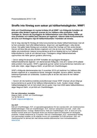 Straffa inte företag som satsar på hållbarhetsåtgärder, WWF!