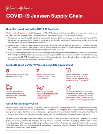 Faktablad Janssen Covid-19 Supply chain