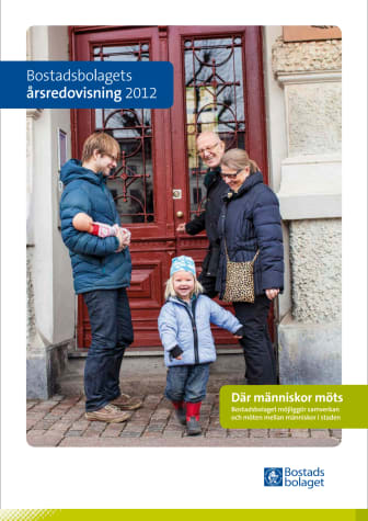 Bostadsbolagets årsredovisning med hållbarhetsredovisning 2012