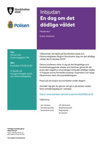 Pressinbjudan: Konferens om dödligt våld