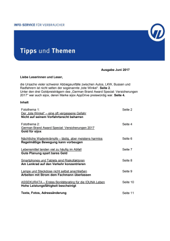 Tipps und Themen 6-2017