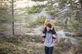 Vandring i Höga Kusten Familj