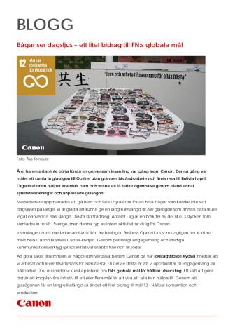 Bågar ser dagsljus – ett litet bidrag till FN:s globala mål