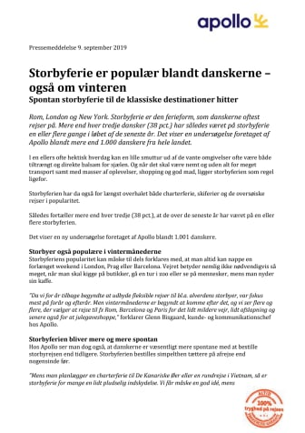 Storbyferie er populær blandt danskerne – også om vinteren