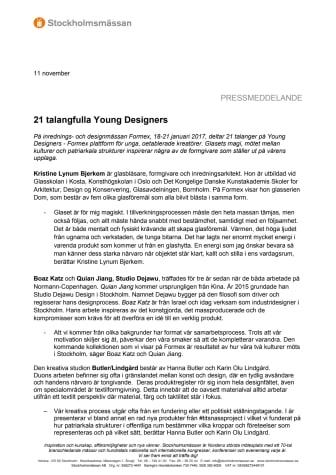 21 talangfulla Young Designers