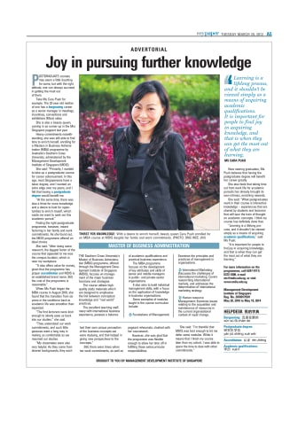 Joy in pursuing further knowledge