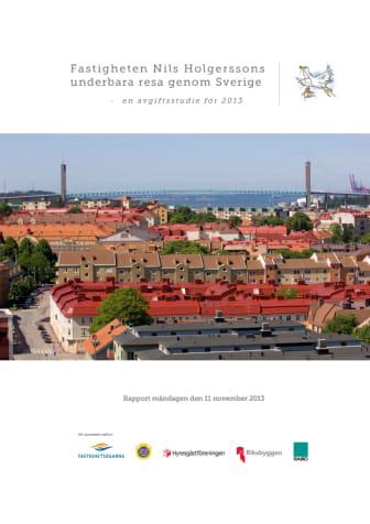 Nils Holgerssonrapporten 2013: Taxor och avgifter ökar med 3,3 procent