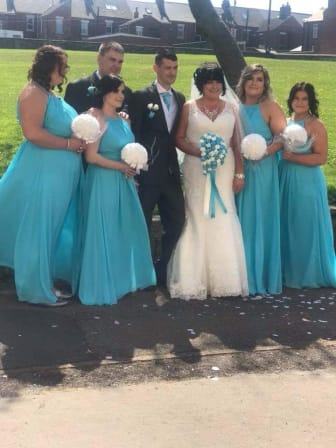 Kayleigh and Colin Thompson and wedding party