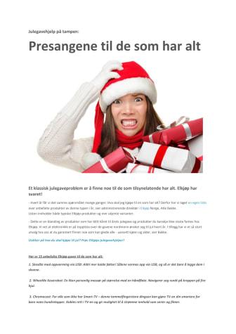 Julegavene til den som har alt - PDF-format