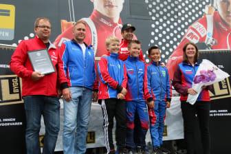 Tonstad IL (Fra venstre: Rune Risnes, Terje Morten Øksendal, Håvard Johannes Risnes, Ole Einar Bjørndalen,  Mikkel Fundal Gauthun, Mathias Øksendal, Gunhild Fundal)
