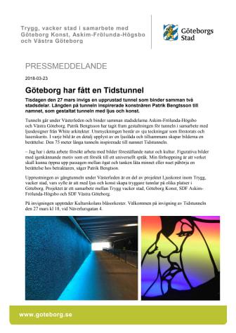 Göteborg har fått en Tidstunnel!