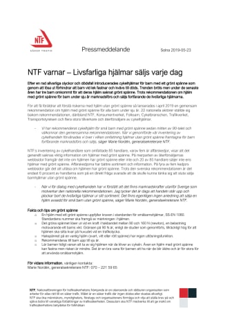 NTF varnar – Livsfarliga hjälmar säljs varje dag