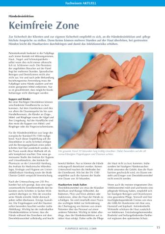Händedesinfektion: Keimfreie Zone