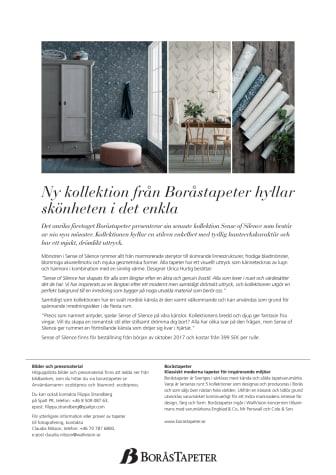 Ny kollektion från Boråstapeter hyllar skönheten i det enkla