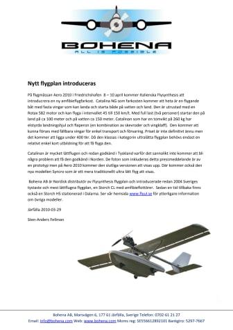 Nytt flygplan introduceras