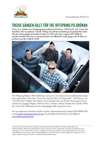 Tredje gången gillt för The Offspring på Grönan