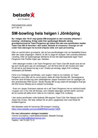 SM-bowling hela helgen i Jönköping