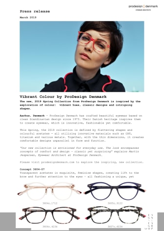 Colourful acetates by ProDesign Denmark