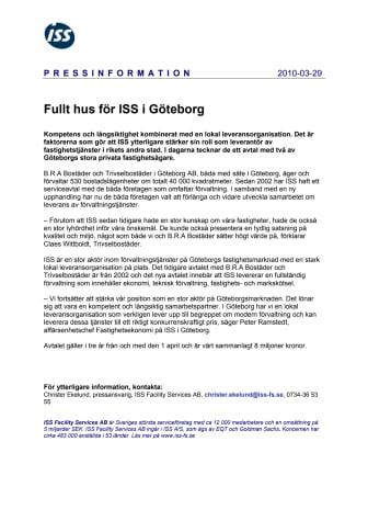 Fullt hus för ISS i Göteborg