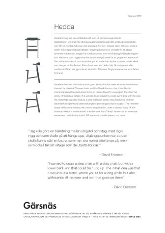 Produkttext Hedda