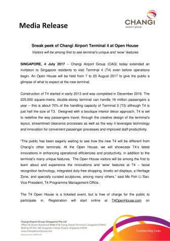 Sneak Peek of  Changi Airport Terminal 4 at Open House