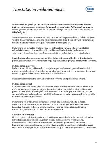 Taustatietoa melanoomasta