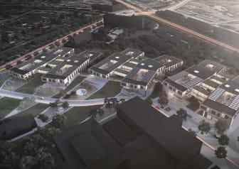 Det kommende Bispebjerg Psykiatri udarbejdet af Friis & Moltke og PLH Arkitekter.