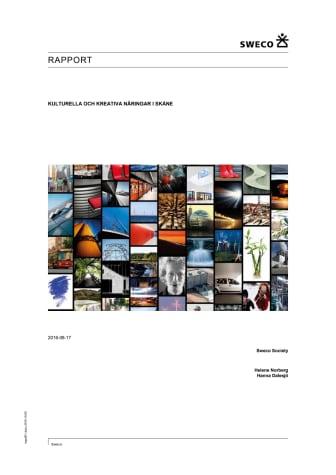 Rapport kulturella och kreativa näringar i Skåne