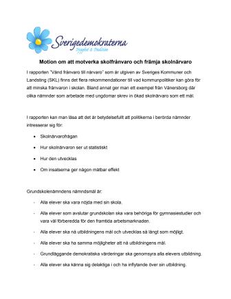SD vill motverka skolk i Malmö