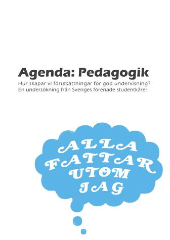 Rapport: Agenda pedagogik