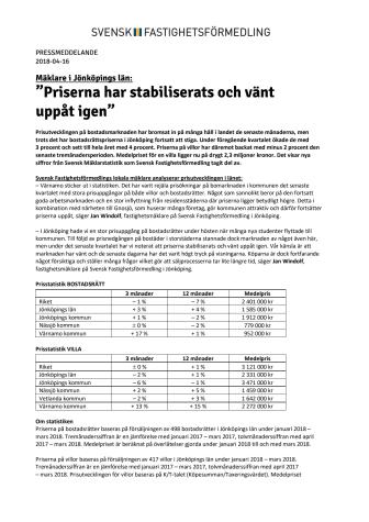 """Mäklare i Jönköpings län: """"Priserna har stabiliserats och vänt  uppåt igen"""""""