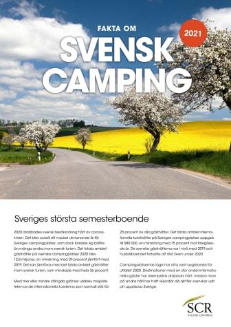 Fakta om svensk camping - Årsrapport 2020