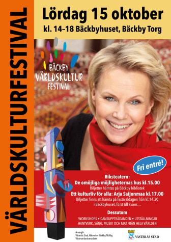 Affisch Bäckby Världskulturfestival