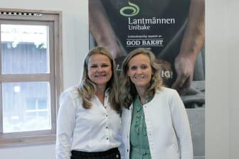 Aina Hagen og Mette Nygård Havre på Unibakedagen 2019