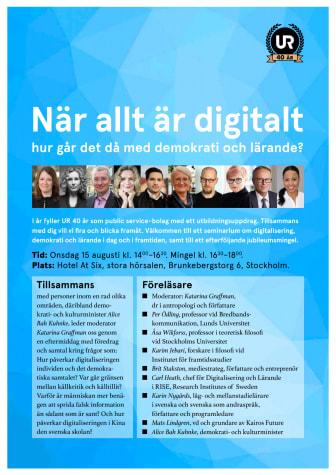 UR framtidsspanar om digitaliseringens påverkan på demokrati och lärande