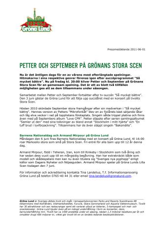 Petter och September på Grönans Stora Scen