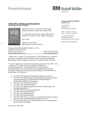 VOB im Bild – Hochbau- und Ausbauarbeiten