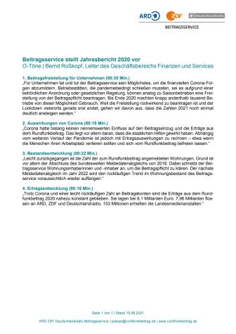 O-Töne zum Jahresbericht 2020 - Transkript