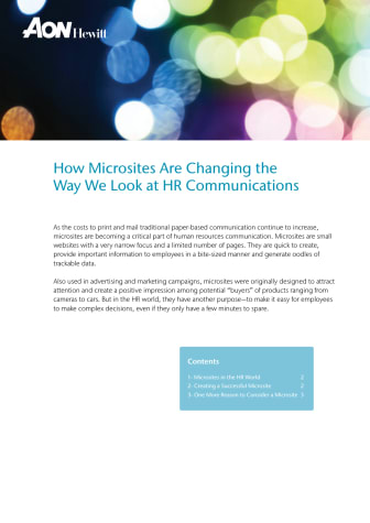 How Microsites Are Changing the Way We Look at HR Communications