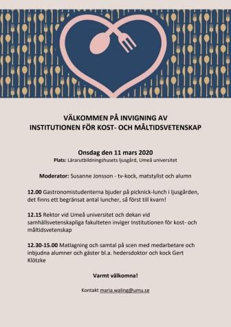 Stor invigning av Institutionen för kost- och måltidsvetenskap
