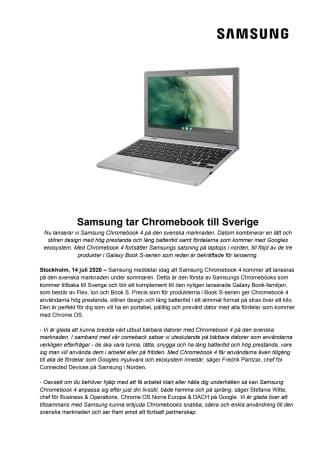 Samsung tar Chromebook till Sverige