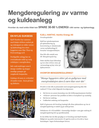 Kjell Hantho - Mr Mengderegulering - holder foredrag på Årets grønne driftskonferanse 2017, 14. november