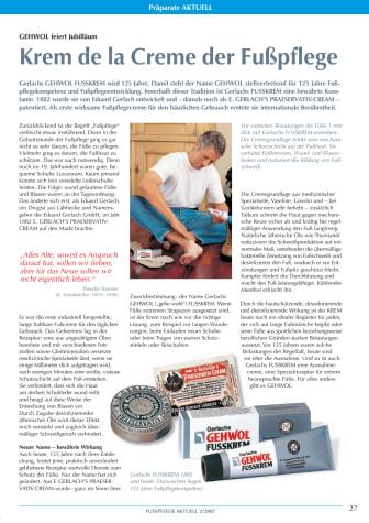 GEHWOL FUSSKREM: Krem de la Creme der Fußpflege