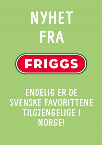Nyhet fra Friggs: Sunnere snack 'on the go'