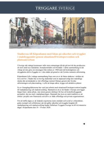 Inbjudan och program, Köpenhamn