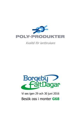 Folder över Lantbruksprodukter 2016