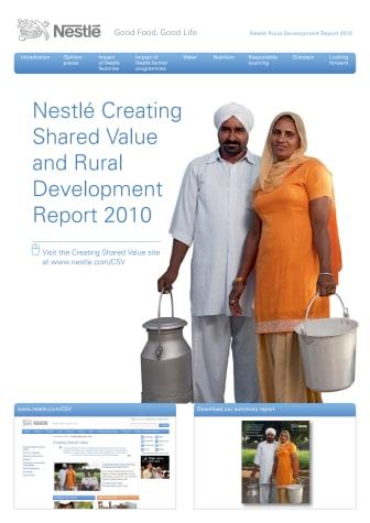 Nestlé CSV report 2010 - rural development