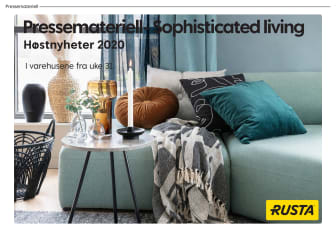 Pressemateriell Sophisticated living - Høst 2020