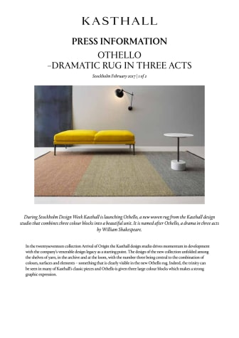 OTHELLO – DRAMATIC RUG  IN THREE ACTS
